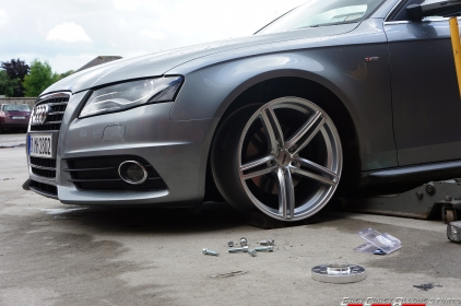 OEMS 120 Alloy wheels. Trial fit on an Audi B8