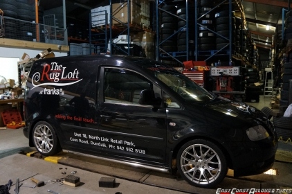 "18"" Boston Alloy Wheels on VW Caddy"