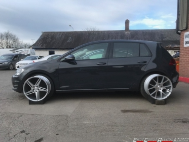 Golf with Veemann alloy wheels