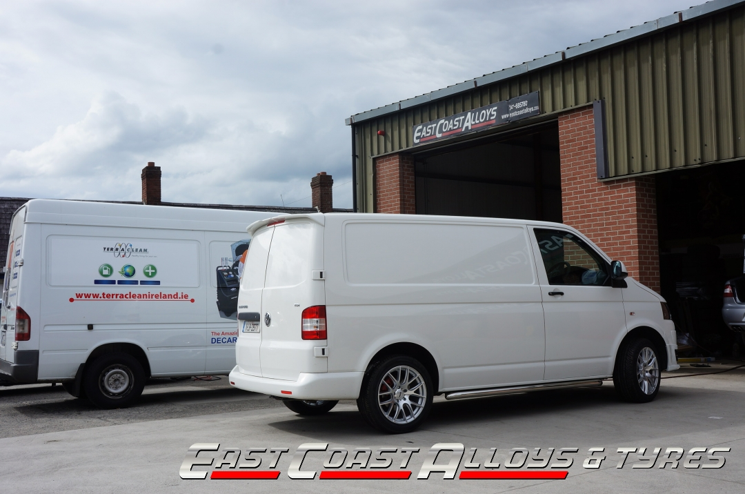 "18"" OEMS 111 on a T5 Transporter Van at East Coast Alloys"